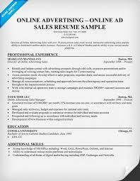 Advertising Resumes Online Advertising Online Ad Sales Resume Resumecompanion Com