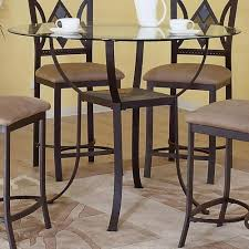 square glass pub table jenna square crackle glass pub table free shipping today within