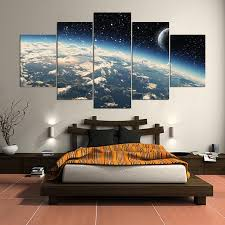 100 sci fi home decor aliexpress com buy 5 panel hd printed