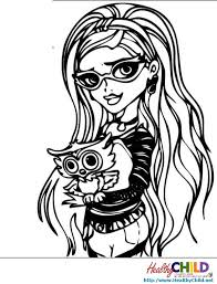 ghoulia yelps monster monster coloring pages