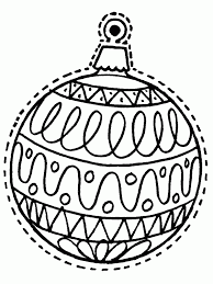picture of christmas tree ornaments coloring pages all can