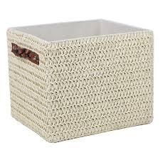 storage unit with wicker baskets shop storage bins u0026 baskets at lowes com