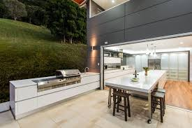 outdoor kitchen cabinets bar area plus metal bar stools stainless