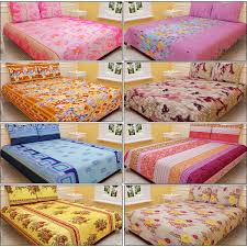buy salona 8 designer double bed sheets with 16 pillow covers
