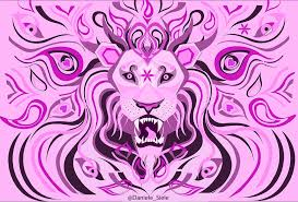 mystical lion the process from sketch to photoshop to illustrator