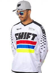 motocross gear phoenix shift white 2017 recon phoenix mx jersey shift freestylextreme