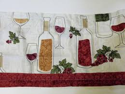 wine bottles grapes kitchen curtains set tiers valance set 26 95