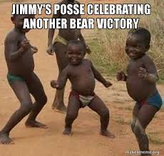 jimmy s posse celebrating another bear victory dancing black kids