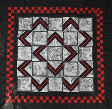 trio of 7 panel quilts