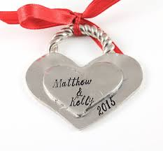 heart in my heart ornament christmas silver newlywed gift