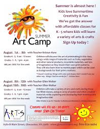 kids summer art camps