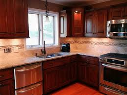 Tile Backsplash Ideas For Cherry Wood Cabinets Home by Cherry Kitchen Cabinets With Backsplash Ideas Kitchen