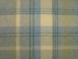 wool upholstery fabric elgin bluebell blue wool effect washable thick tartan curtain fabric