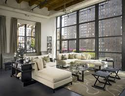 santa barbara console tables behind sofa living room midcentury