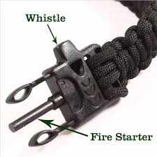 survival bracelet with whistle buckle images 5 in 1 survival bracelet travel kit compass flint fire starter jpg
