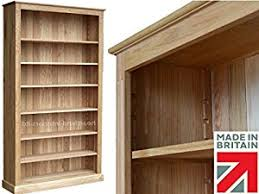100 solid oak bookcase 7ft x 4ft extra deep heavy duty display