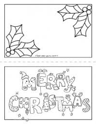 printable merry christmas card coloring kids printable