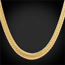 gold plated chain necklace images U7 22 quot hot 18k real gold plated chain necklace gold lazada jpg