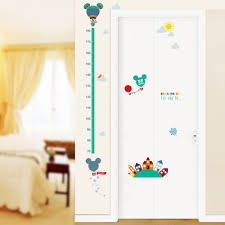 online get cheap wall stickers kids room mickey mouse aliexpress cartoon mickey mouse minnie height measure sticker growth chart wall stickers kids room nursery