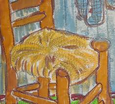 susanvassalloquiltingart van gogh bedroom day9 the chair makes me feel at home just like you want to sit and talk for a while i named this van gogh