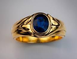 mens rings antique images Antique blue sapphire gold men 39 s ring antique jewelry vintage jpg