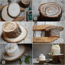 tree stump cake stand turtlecraftygirl rustic wood cake stands