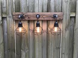 Rustic Vanity Lighting Vanity Light Fixture With 3 Lights Shades Aftcra