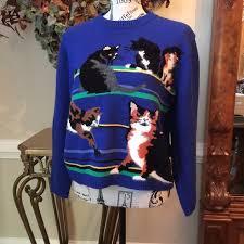cat sweater 46 susan bristol sweaters vintage susan bristol cat sweater