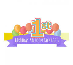 1st birthday balloon delivery 1st birthday balloon package 3 party banner helium balloon delivery