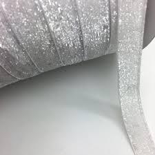 white velvet ribbon 3 yards lot 3 4 20mm wide glitter white velvet ribbon headband