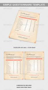 a5 simple questionnaire template by katzeline graphicriver