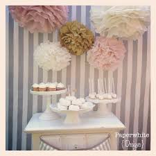 Tissue Paper Pompoms Baby Shower Decorations Farmhouse Style