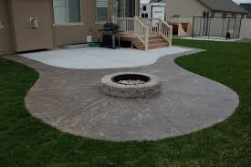 Concrete Patio Designs Layouts Creative Of Concrete Patio Ideas With Pit Pit Inspired