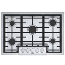 shop bosch 800 series 5 burner gas cooktop stainless steel