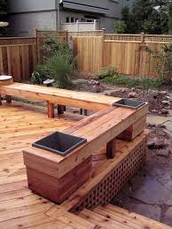 Wooden Deck Bench Plans Free by 45 Best Deck Ideas Images On Pinterest Backyard Ideas Gardening