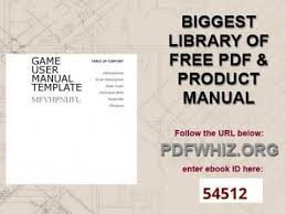 game user manual template youtube