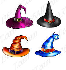 halloween witch hats clipart cake toppers commercial png by
