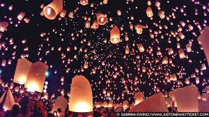 Festival Of Lights Thailand Enchanting Scenes From Loy Krathong Magical Lantern Festival In