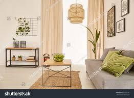 cozy living room couch coffee table stock photo 583359166