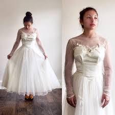 50s wedding dresses ivory wedding dress tulle wedding dress 1950s wedding dress 50s