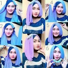 tutorial jilbab segi 4 untuk kebaya foto tutorial hijab segi empat info kebaya modern