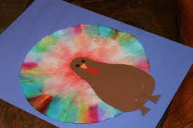 how to make coffee filter tie dye turkeys