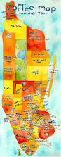 New York City Marathon Map by Manhattan Neighborhoods New York New York Pinterest