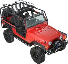 jeep body armor bumper body armor tj 6125 roof rack base kit for 97 06 jeep wrangler tj