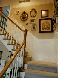 Painting Wainscoting Ideas My Stairwell With Painted Scallops And New Wainscoting Hometalk