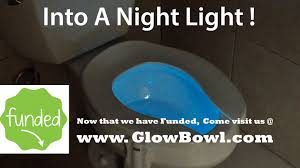 toilet light glowbowl motion activated night light for your toilet by jeff