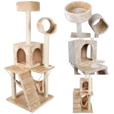 authentic modern 52 u0027 cat tree scratcher post pet play tower climb