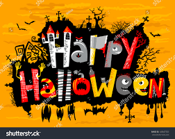 happy halloween cute card lettering stock vector 149647553