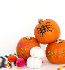 halloween diy cross stitch pumpkins u2013 design sponge