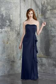 draping strapless ruffles dark blue prom dresses on sale on